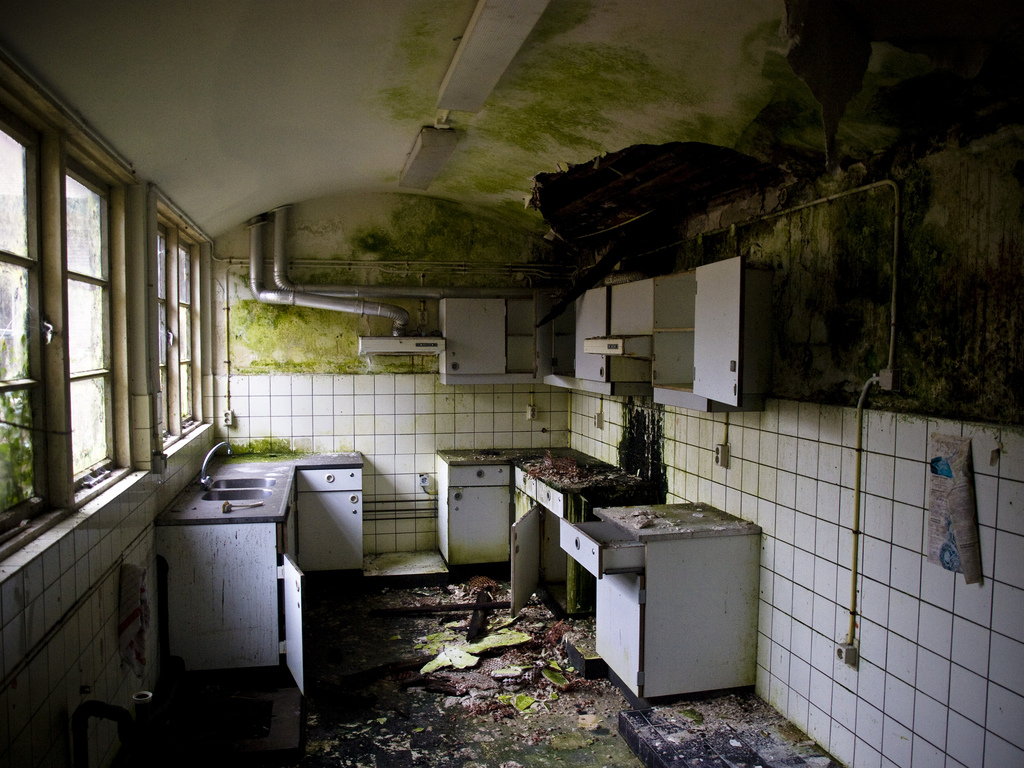 You will definitely not get your security deposit back if your kitchen looks like this when you move out.