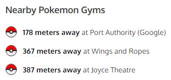 Pokemon gyms on apartment listings