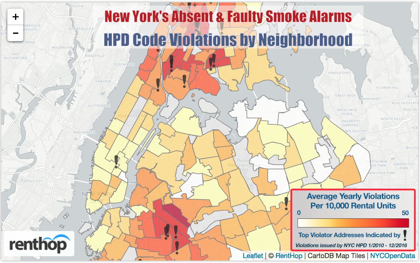 Smoke Detectors Violation Map