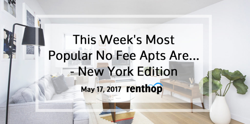 This week 39 s popular no fee apts are new york city 5 for No fee apartments nyc