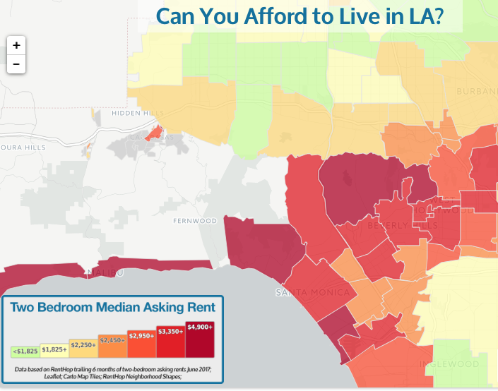 LA Cost of Living Map