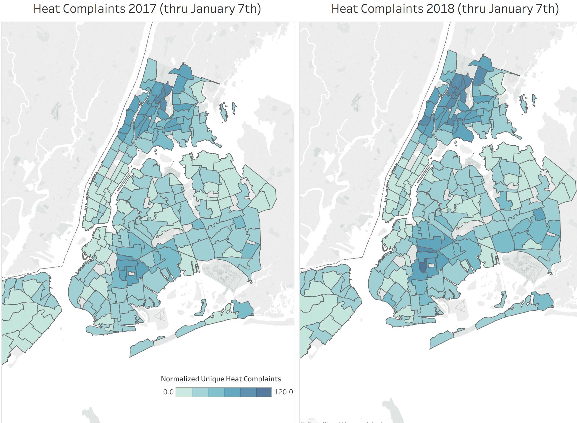 2018 Heat Complaints