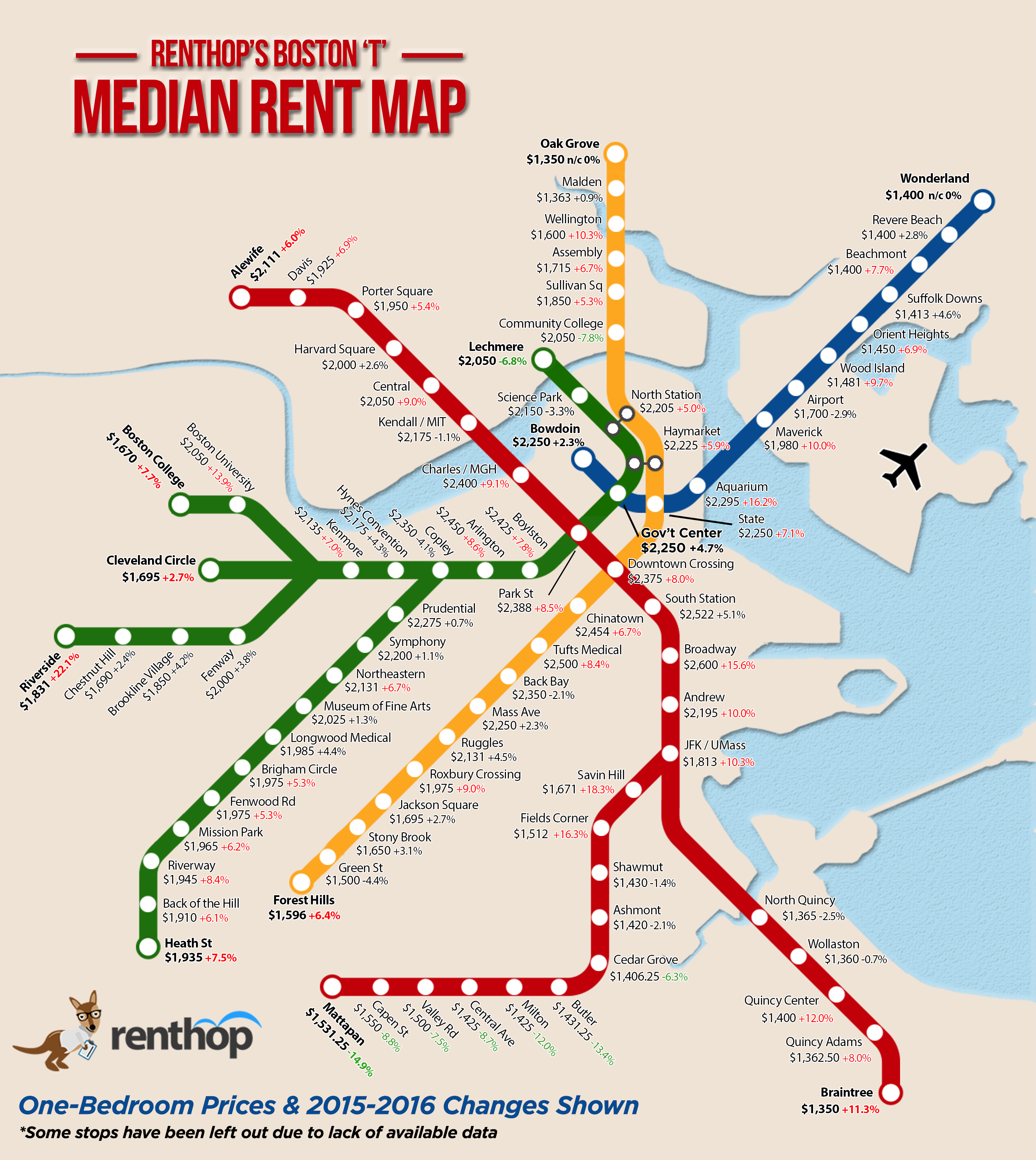 Subway Map Live.Where Does The Train Of Rising Rents Stop